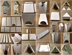 Как сделать чайный домик. Чайный домик из картона своими руками
