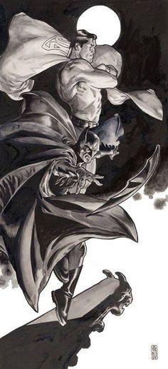 Batman and Superman by J.G. Jones *
