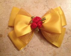 The Beast Inspired Bow by FangirlCreation on Etsy