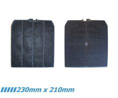 Dunstabzugshauben Aktivkohlefilter DHKF9020 Mit 230 Mm X 210 Mm Passend Für  Verschiedene Dunsthauben U.a. Von Falmec