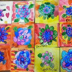 painting with kindergarten...a Kinder-Garden!