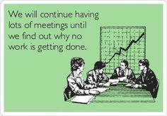 A reason to open communication and stop meetings
