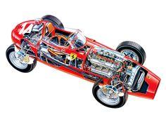 1958 Ferrari 246 Dino F1 - Illustrator uncredited