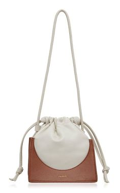 Shop Pouchy Two-Tone Leather Bucket Bag. Yuzefi's 'Pouchy' bag is crafted with a buttery soft leather sack that rests on a structured grain leather base. Purses And Handbags, Luxury Handbags, Cheap Handbags, Popular Handbags, Pink Purses, Luxury Purses, Dior Handbags, Gucci Crossbody Bag, Cheap Bags