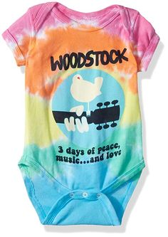 12c2515d655 Liquid Blue Baby Woodstock Banded Short Sleeve Onesie