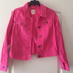 1989 Place XL 14 girls pink jean jacket Prices to sell quickly!! Bundle and save even more money!! 1989 Place Jackets & Coats Jean Jackets