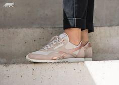 Reebok Classic Nylon Slim *Metallics* (Stucco / Chalk / Rose Gold)