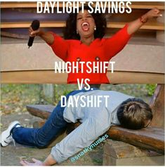 """""""😆/😴 Sometimes 1 hour makes all the difference! 🔄 Reposted from 🚨 TAG A NURSE 💊🏥"""" Daylight Savings Meme, 12 Hour Shifts, Nursing Memes, Night Shift, Nurse Humor, Stay Strong, Lol, Hero, Instagram Posts"""