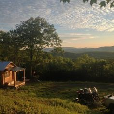 Small Cabin In The Blue Ridge Mountains Of North...