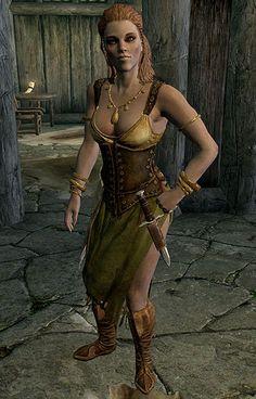 The Eldar Scrolls V: Skyrim -- Tavern Clothes Cosplay Costume Version 01