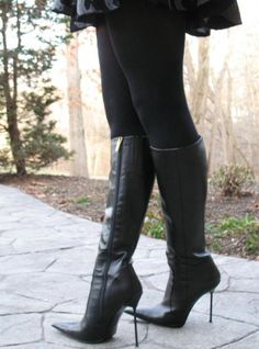 High Heel Boots, Heeled Boots, High Heels, Botas Sexy, Sexy Boots, Black Leather Boots, Fashion Boots, Latex, Eye Candy