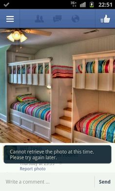Attic guest kids room lots of beds