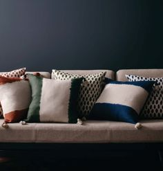 Rain and Ombre cushions, Linen & Moore. See more at melissapenfold.com   Style For You And Your Home