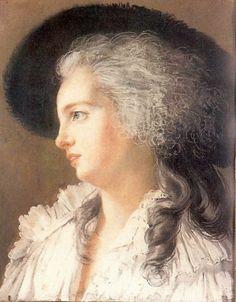 A sketch of the Duchess of Polignac, 1787 by Élisabeth-Louise Vigée-Le Brun.
