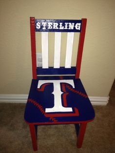 Texas Rangers Rocking Chair on Etsy, $125.00