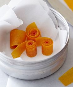 Homemade fruit leather roll-ups make the perfect back to school lunchbox treat for kids! These ones use fresh apricots. | Tesco