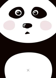 Poster with panda for kids room