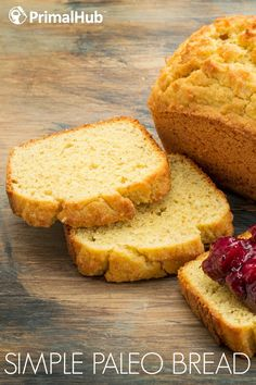Simple Paleo Bread #paleo #bread #simple #glutenfree #grainfree Paleo Desert Recipes, Paleo Recipes, Paleo Meals, Paleo Diet, Bread Recipes, Yummy Recipes, Paleo Bread, Paleo Baking, Paleo Dessert