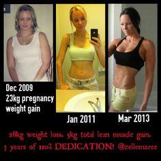 My transformation: Pregnancy weight gain to bodybuilding.