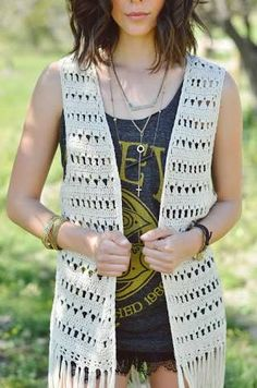 Image result for FREE CROCHET PATTERN VEST WITH FRINGE