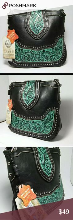 Montana West Concealed Carry Crossbody Purse Montana West Concealed Carry Crossbody Purse Black And Turquoise Beautiful Accents. New Concealed Carry Purse For Personal Protection! Bags Crossbody Bags