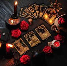 The origins of the Tarot are surrounded with myth and lore. The Tarot has been thought to come from places like India, Egypt, China and Morocco. Others say the Tarot was brought to us fr Wiccan, Magick, Witchcraft, Images Esthétiques, Witch Aesthetic, Major Arcana, Book Of Shadows, Tarot Decks, Black Magic