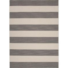 @Overstock - Bold color is the name of the game with Pura Vida. This beautiful collection of durable, reversible flat-woven dhurries combines the classic simplicity of linear patterns with a decidedly modern palettehttp://www.overstock.com/Home-Garden/Flat-Weave-Stripe-Gray-Rug-8-x-10/7527926/product.html?CID=214117 $379.99