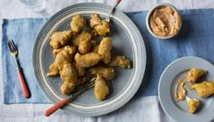 BBC - Food - Recipes : Chicken nuggets with smoked paprika and anchovy mayo