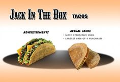 Adverts vs. reality :  Tacos
