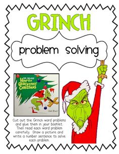 Read How the Grinch Stole Christmas book, then compare and contrast his behavior before and after Christmas cheer! Le Grinch, Grinch Party, Grinch Stole Christmas, Christmas Books, Grinch Stuff, Christmas Ideas, Christmas Time, Christmas Math, Xmas