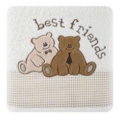 Krémový uterák pre bábätká BEST FRIENDS Best Friends, Snoopy, Teddy Bear, Animals, Fictional Characters, Beat Friends, Bestfriends, Animales, Animaux
