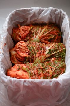 The most popular cabbage kimchi recipe in Korea by a famous kimchi blogger. Her fruit stock makes the kimchi light and refreshing with a full flavor.