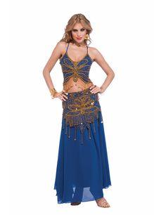 Orientalische Bauchtänzerin Damenkostüm blau-gold - Artikelnummer: 656720000 - ab 79.99 EURO - bei www.racheshop.de!