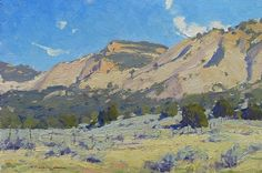 The Clay Hills by Ron Rencher Oil ~ 9 x 12