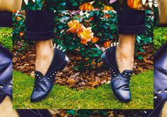 Flower Power Studded shoes MENSFASHION MENSTYLE fashion blogger hot trend Fashion week