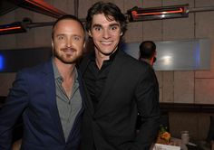 Breaking Bad Season 5 Premiere Party Photos  Aaron Paul (Jesse Pinkman) and RJ Mitte (Walter White, Jr.)