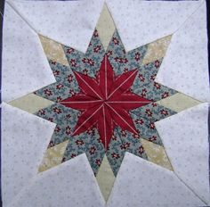 Hand pieced star block from my Morrell quilt (pattern by Di Ford)