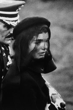 Jacqueline Kennedy  at John F. Kennedy's funeral, Arlington Cemetery, November 25, 1963