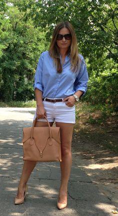 #street #style #shorts #shirt