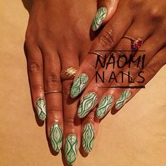 Leaf #nails  by Naomi Nails NYC