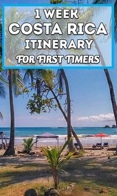 Visiting Costa Rica for one week? Here is a sample itinerary great for first timers, visiting the Central and South Pacific!  via @mytanfeet