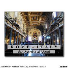 San Martino Ai Monti Portrait, Rome, Italy Postcard