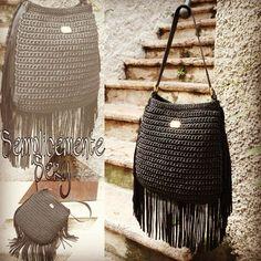 #handmade #crochet #handmade Bag #totalblack#brand#moda #madeinItaly #love#SemplicementeSery