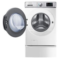 5.6 cu. ft. Capacity Front Load Washer with SuperSpeed (White) WF56H9110CW/A2 | Samsung Home Appliances
