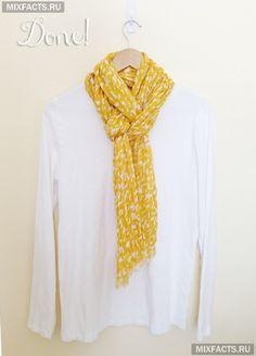 как завязать шарф в европейскую петлю?