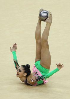 Rhythmic Gymnast Anna Czarniecka of Poland - London test event 2012