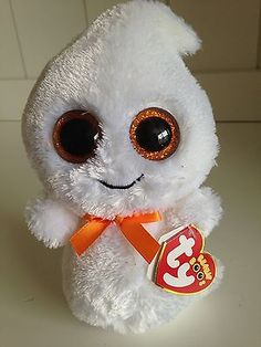 "BEANIE BOO 6"" GHOST - GHOSTY - W/ TAGS MINT"