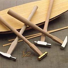 Four small hammers mean the right hammer for the right DIY or workshop project.