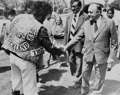 The Prime Minister and the gang member, Otara, 1979.