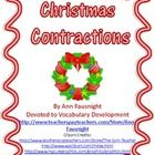 """Table of Contents  3 contraction practice worksheets """"Find Someone Who"""" review activity 40 Game cards for Help Santa Game Mix-Match class activit..."""